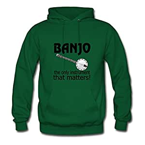 Funny Banjo Quote Green Custom-made Women Unofficial Hoody - X-large