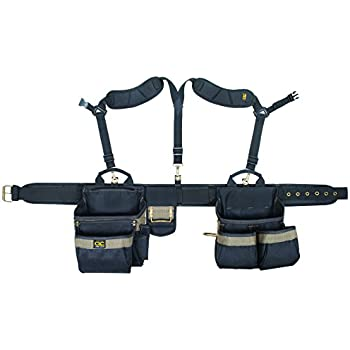 CLC Custom Leathercraft 1614 20 Pocket, Heavy Duty Framers 5-Piece Comfortlift Combo Tool Belt System