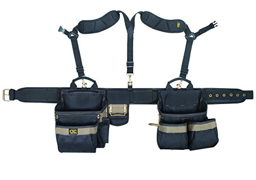 CLC Custom Leathercraft 1614 20 Pocket, Heavy Duty Framers 5-Piece Comfortlift Combo Tool Belt System ()