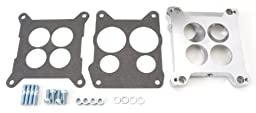 Edelbrock 2696 Four-Hole Square-Bore to Spread-Bore Carburetor Adapter