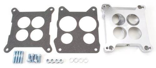 Edelbrock 2696 Four-Hole Square-Bore to Spread-Bore Carburetor Adapter