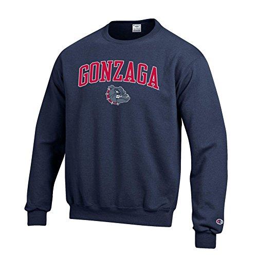 Elite Fan Shop NCAA Gonzaga Bulldogs Men's Team Color Crewneck Sweatshirt, Navy, X-Large