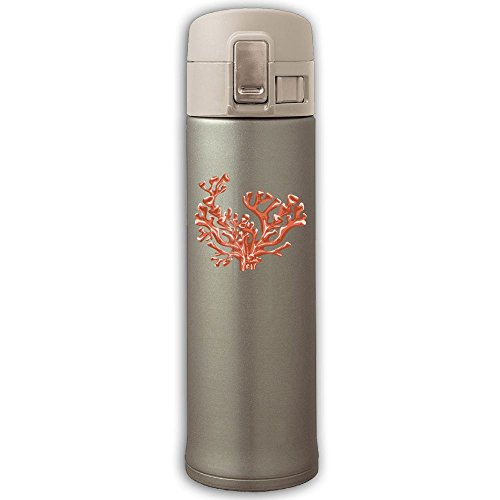 Stainless Steel Mug Red Coral Bouncing Cover Insulation Vacuum Cup Bottle Thermos Travel Mug Yellow