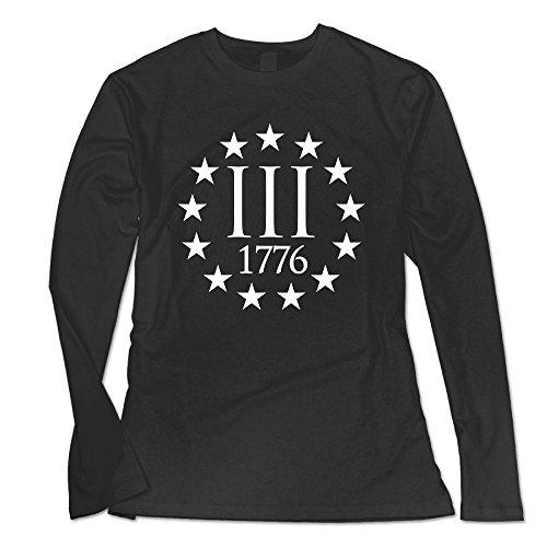 Ongshuquwe Three Percenter 1776 Symbol Women's Casual Long-sleeved Round Neck T-shirt Autumn And Winter XL (Ascii Art Halloween)