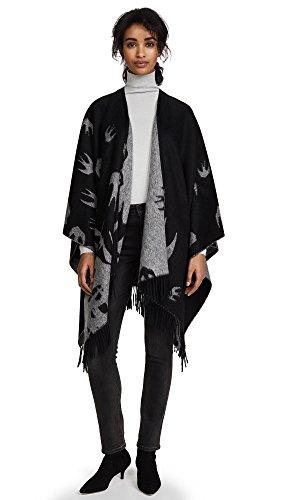 McQ - Alexander McQueen Women's Swallow Poncho, Black, One Size Alexander Mcqueen Women Shirts