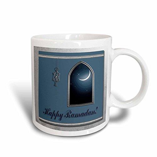 3dRose Ramadan Lantern with Moon in The Window Ceramic Mug, 15-Ounce
