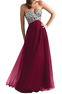 DLFASHION Women's Strapless Empire Tulle Long Prom Dress