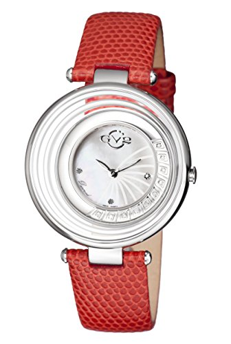 GV2-by-Gevril-Womens-Vittoria-Swiss-Quartz-Stainless-Steel-and-Leather-Casual-Watch-ColorRed-Model-1600L