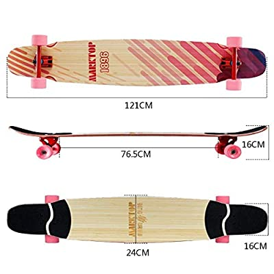 HWZGSLC 31 Inch Beginner's Complete Pre-Assembled Skateboard, Grip Tape on Top, Graphic Design on Bottom, Great for Kids and Beginners : Sports & Outdoors