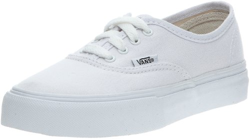 Vans Kids' Authentic Shoes,True White,5