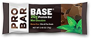 PROBAR BASE Protein Bar, Mint Chocolate, 2.46 Ounce (Pack of 12)