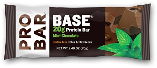 PROBAR - BASE 2.46 Oz Protein Bar, Mint Chocolate, 12 Count - Organic, Gluten-Free, Plant-Based Whole Food Ingredients