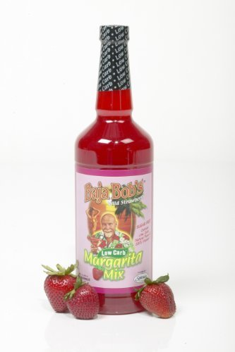 Baja Bob's Sugar Free Strawberry Margarita Mix - 32 oz. by Baja Bob's - Baja Bobs Margarita Mix