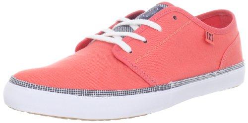 DC 320239-BRE - Zapatos con cordones de tela para mujer Rojo (Hot Coral)