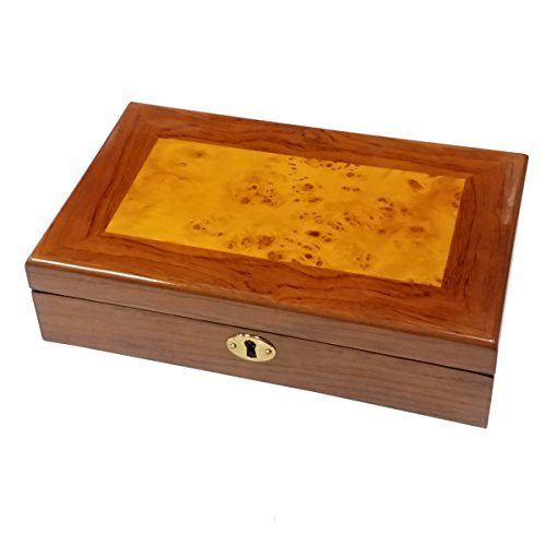 Cufflink Collectors Box - Bubinga Burl Cufflinks / Ring Collector's Jewelry Box