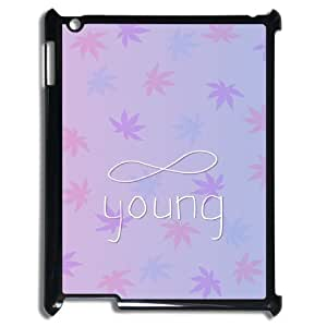wugdiy Custom Hard Plastic Back Case Cover for iPad2,3,4 with Unique Design Infinite Young