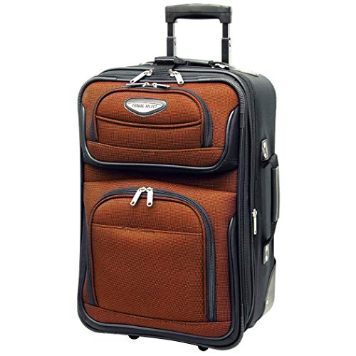 Orange Wheeling Briefcase Carry On Lightweight Rolling Softsided, - Compartment Expandable Exclusive Briefcase Multi