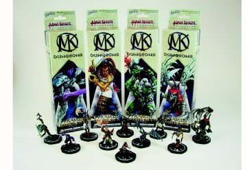 Mage Knight Dungeons Pyramid Booster Pack 4 Figures 1 Chest - Mage Knight Dungeons