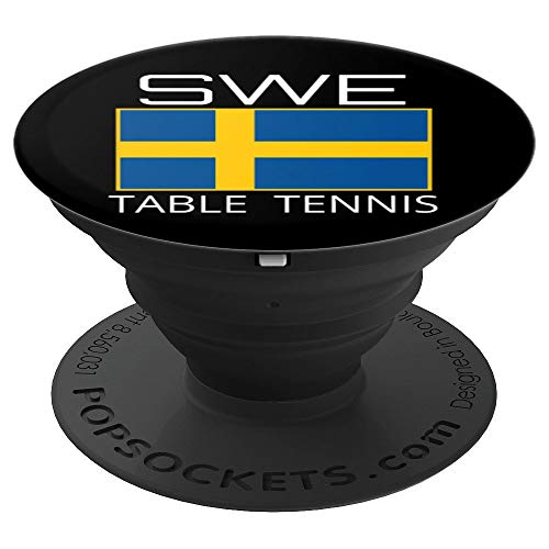 Sweden Table Tennis Swedish Ping Pong Athlete SWE Flag Pride PopSockets Grip and Stand for Phones and Tablets (Best Tennis Game For Android)