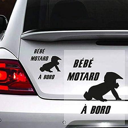 Blanc Ma Petite Vitrine Sticker b/éb/é /à Bord pour Voiture B/éb/é Motard
