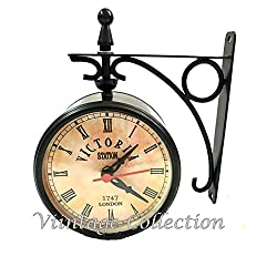 Marineantiques Antique Victoria Station Double Sided Railway Clock Functional Clock Home Decor