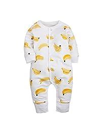 Brave Tour 100% Cotton Sleepwear Long-sleeve Jumpsuit for Unisex Baby