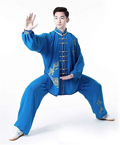 AZWE Tai Chi Uniforme Men S Fine Print Tang Traje Tai ...