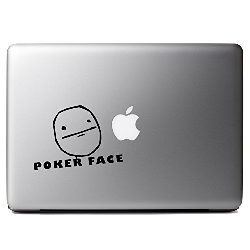 JDM Funny Poker Face Cartoon Meme Vinyl Sticker Laptop iPhone Cell - Face Cartoon Poker