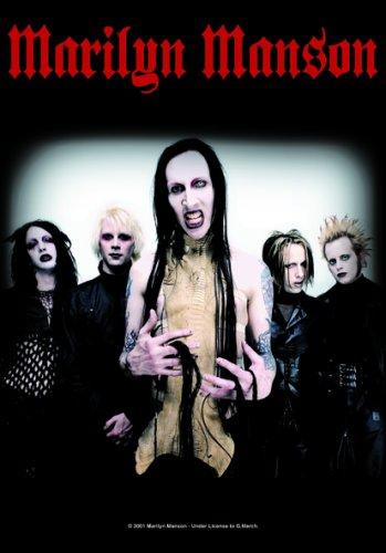 - Marilyn Manson - Hollywood Band Photo [Textile Poster/Flag] 75cmx100cm