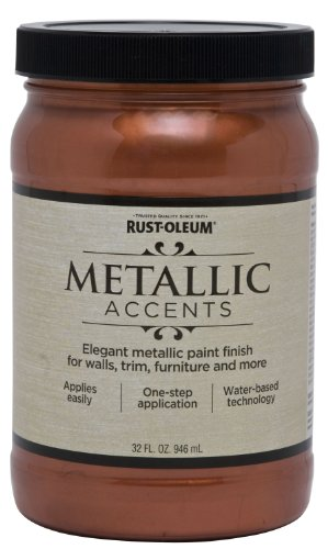 Rust-Oleum 253536 Metallic Accents Paint, Quart, Copper - Copper Paint