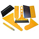 WINOMO 7pcs Car Auto Window Scraper Wrapping Tint Vinyl Film Squeegee Cleaning Tool Kit