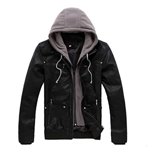 Leather Huixin Fit Modern Outerwear Geteppt Jacket Coat Slim Biker Coat Jackets Pu Men's Leisure Schwarz Outwear Apparel r0A0qwt