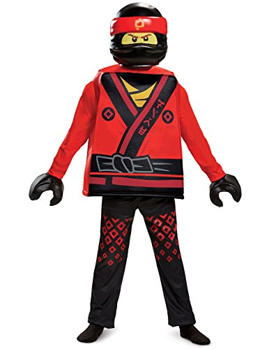 Kai Ninjago Halloween Costume (Disguise Kai Lego Ninjago Movie Deluxe Costume, Red, Medium)