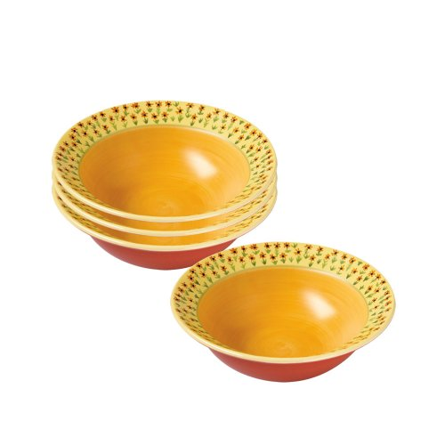 Pfaltzgraff Pistoulet Rim Soup Bowl (16-Ounce, Set of 4)