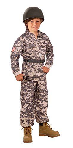 Forum Novelties Camouflage Soldier Army Costume for Children - Includes Shirt, Pants and Belt - -