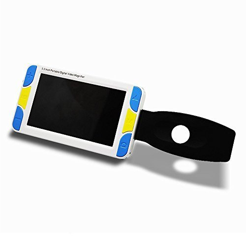 5.0-inch Handheld Mobile Portable Video Digital Magnifier Electronic Reading Aid with Multiple Color Modes, Rechargeable Battery Powered, Freeze etc (5.0 inch)