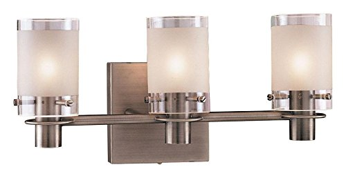 (George Kovacs P5003-056, Chimes, 3 Light Bath Fixture, Antique Nickel)