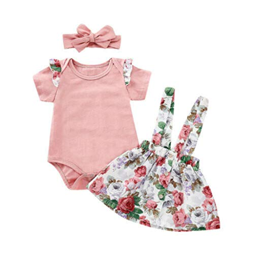 Lovely Baby Girls Pink Rompers+Overalls Set Children Clothing Sets Baby Products Tracksuit Kids Clothes 9M