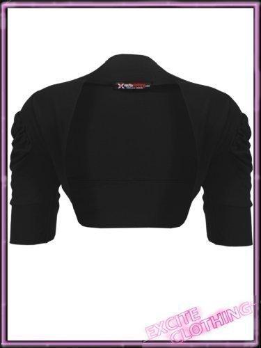 Exciteclothing chaqueta para mujer nuevo algodón torera traje de neopreno para mujer boleros acanalado: Amazon.es: Ropa y accesorios