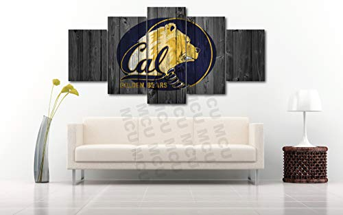 - 5 Piece American Football College University Teams Art Decor Wall Poster (5 Piece Extra Large, Cal Bears)