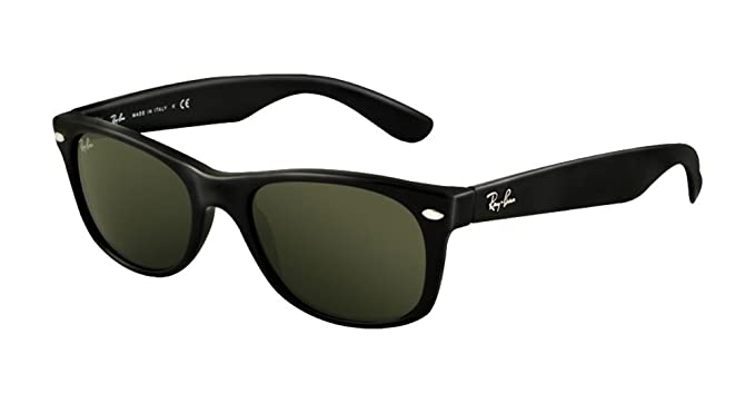 1662c03a5c9 Image Unavailable. Image not available for. Color  Ray-Ban RB2132 New  Wayfarer Sunglasses Unisex (Black Frame Solid Black Lens ...