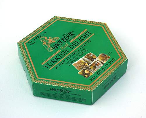 (Haci Bekir Lokoum Turkish Delight With Pistachio 325 gr (11.5 oz))