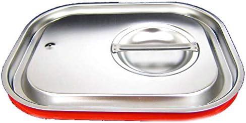 GN 1//2 Deckel Gastronormbeh/älter Silikon Abdeckung GN-Beh/älter Edelstahl
