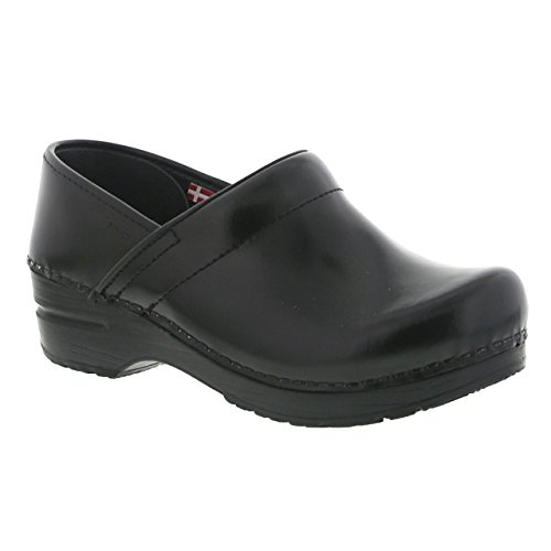 Sanita Womens Original Cabrio Pro Wide Clog Nero