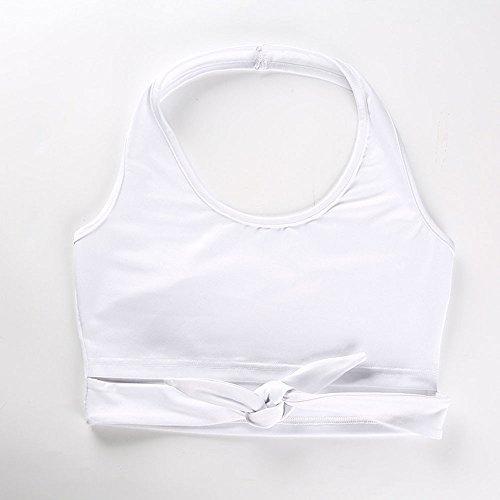 LEvifun Sport Casual Elegante Bianca Canotta Tank T Shirts Tops Magliette Tunica Felpa Abbigliamento Donna Estate Yoga Ragazze Camicette Canotte Donne Crop Tops Vestiti Donna Cotone rqAr70