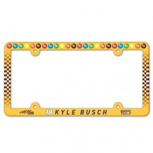 Kyle Busch Driver (NASCAR Kyle Busch License Plate with Full Color Frame)