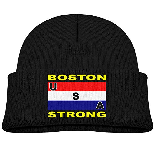 Keviewly USA Boston Strong Infant Warm Beanies Winter Hat Knit Caps Black (Boston Strong Winter Hat)