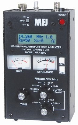 MFJ-269C SWR Antenna Analyzer 530 KHz - 230 / 415-470 MHz Continuous  Coverage