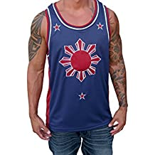 Blue Red Filipino Basketball Jersey Tank Top Philippines Pinoy Pride