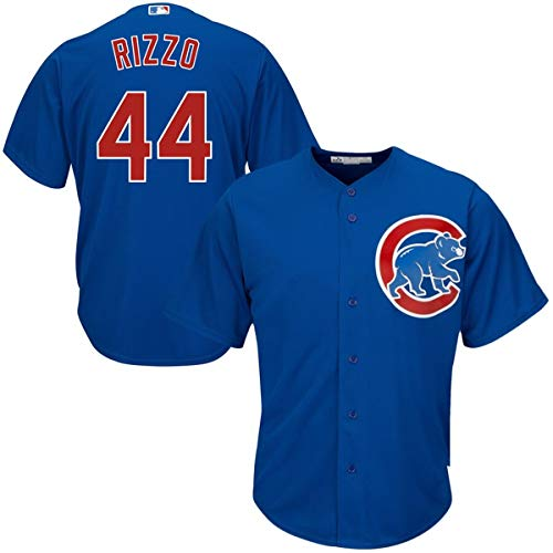 Mitchell & Ness Men's #44 Anthony Rizzo Chicago Cubs Cool Base Player Jersey Blue